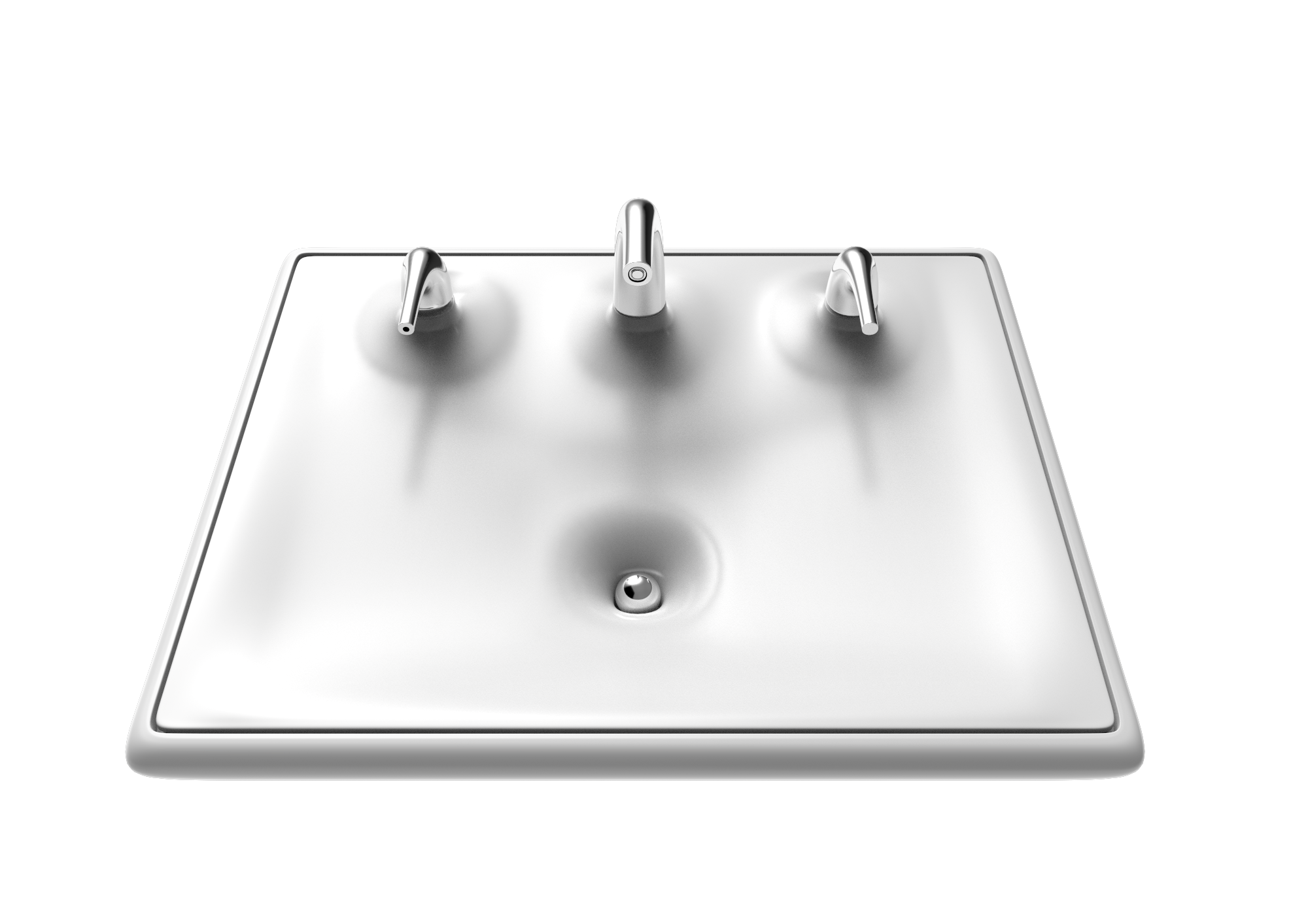 sink design gravity well drain modern bathroom water