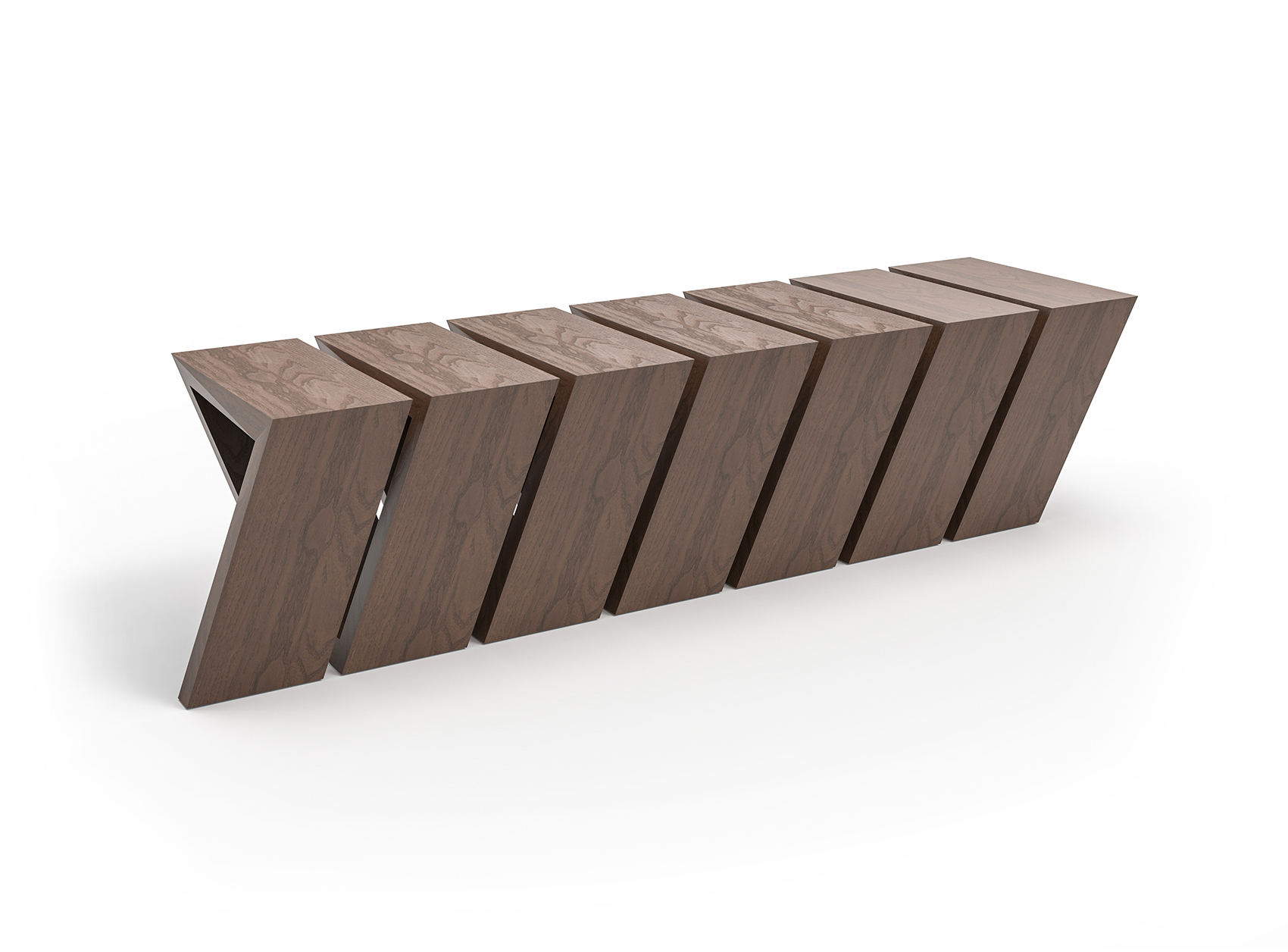Looper bench michael graves arvid wood design bench modern minimalist