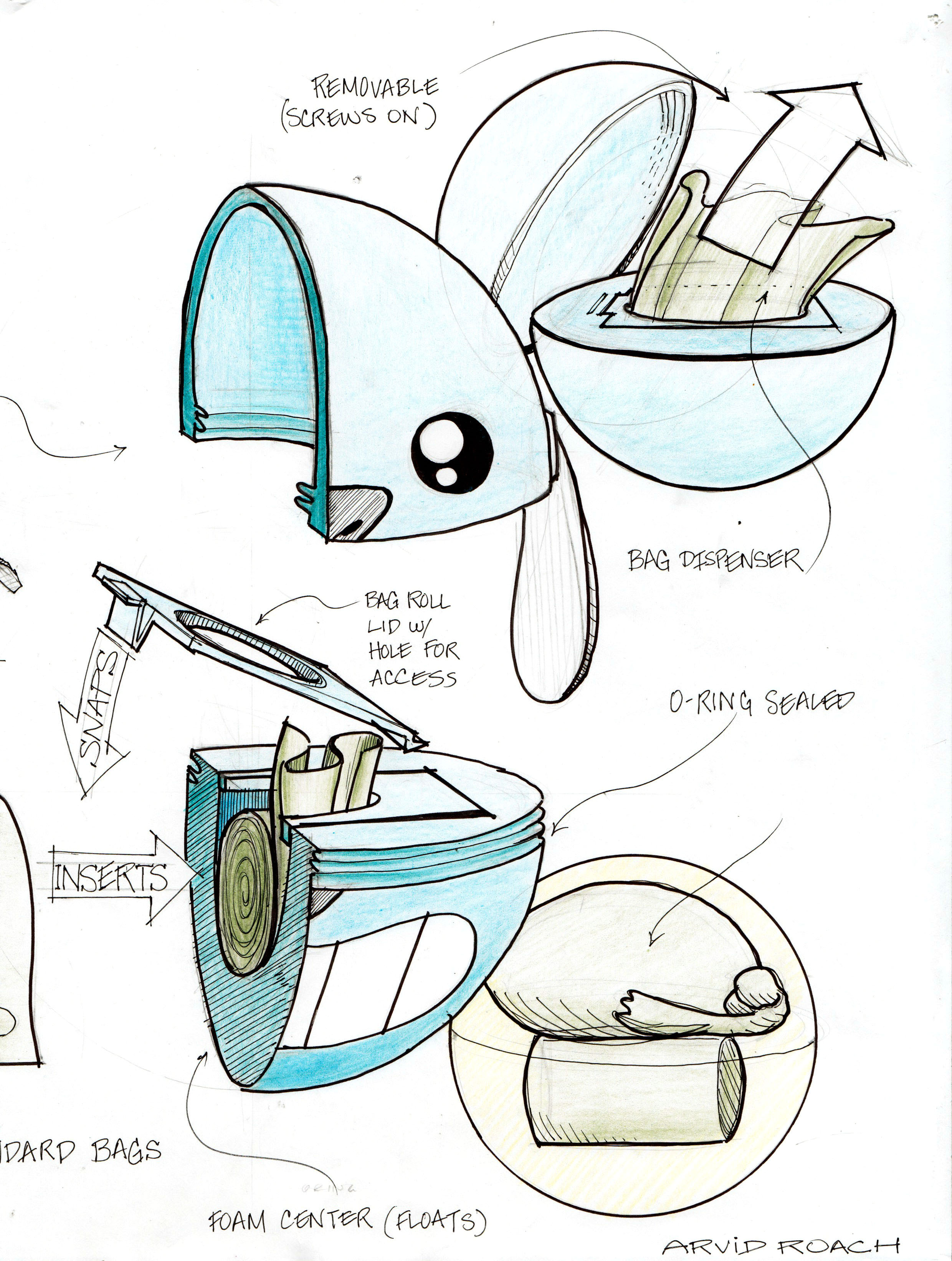 sketch draw product industrial student sketch illustrate