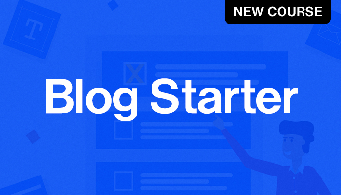 Join the free blog starter course