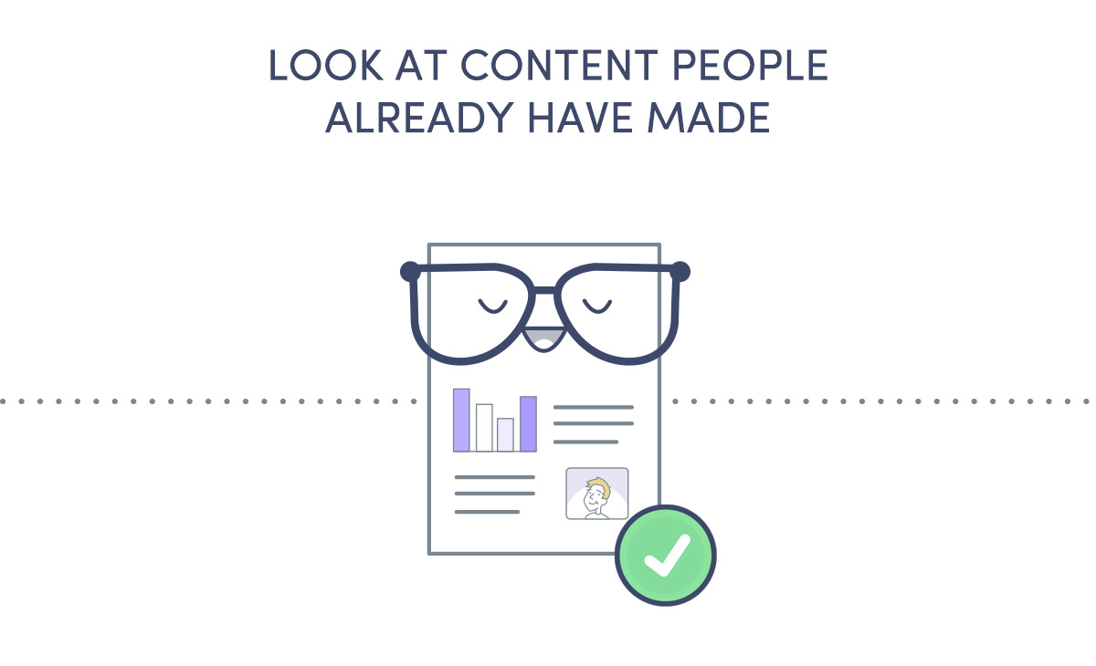 Look at content people have already made so you know what your competition is