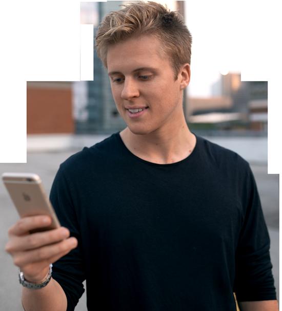 Aaron Ward With Phone