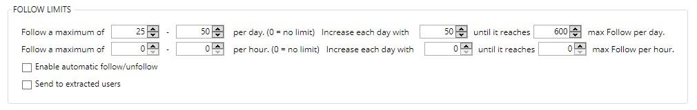 Jarvee follow limit settings