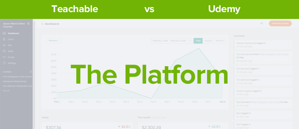 Teachable vs Udemy platform banner
