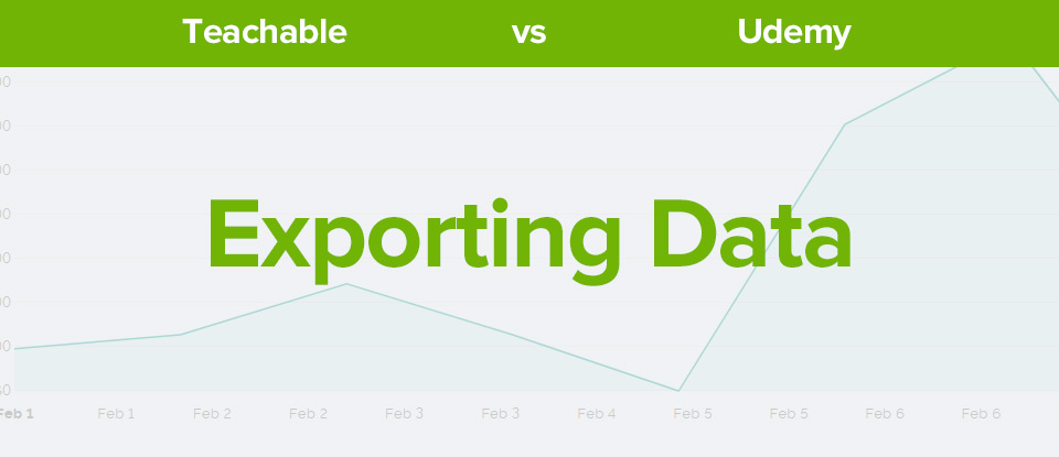 Teachable vs udemy exporting data banner