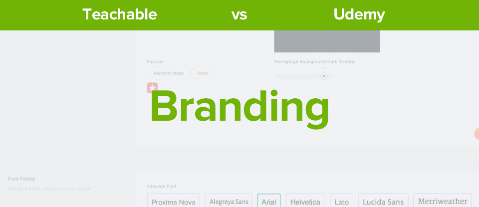 Teachable vs udemy branding banner