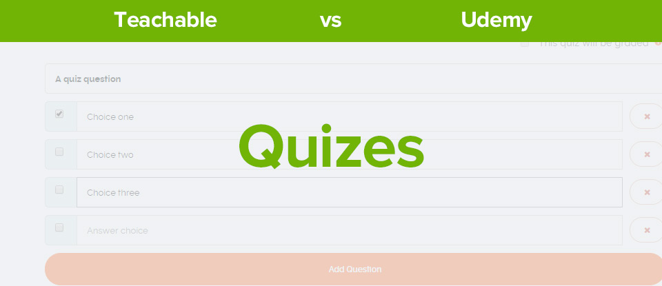 Teachable vs Udemy quizes banner