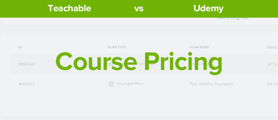 Teachable vs Udemy course pricing banner
