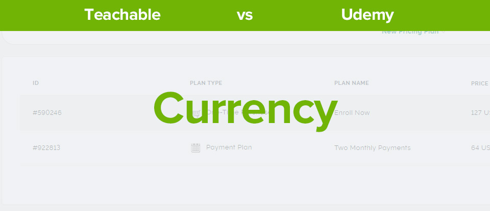 Teachable vs Udemy currency banner