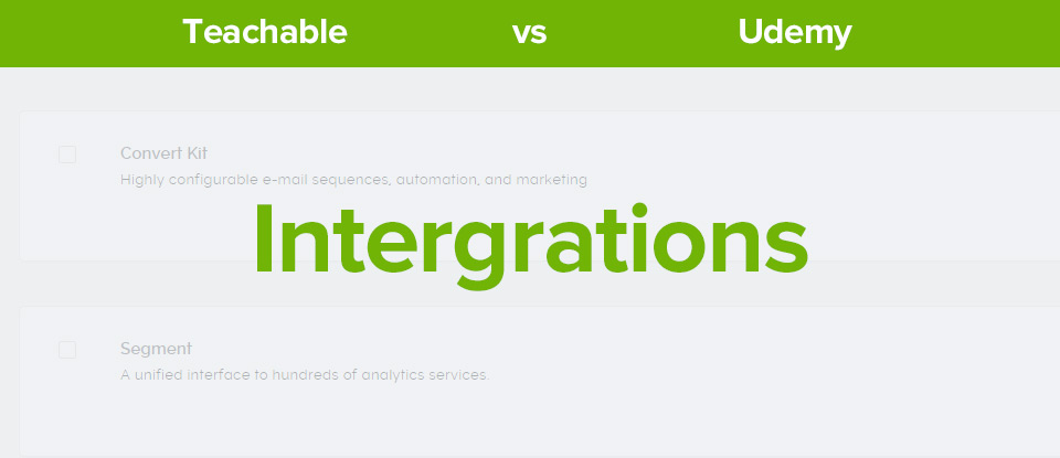 Teachable Vs Udemy Intergrations banner