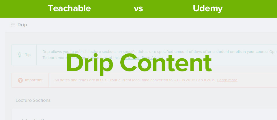 Teachable Vs Udemy Drip Content banner