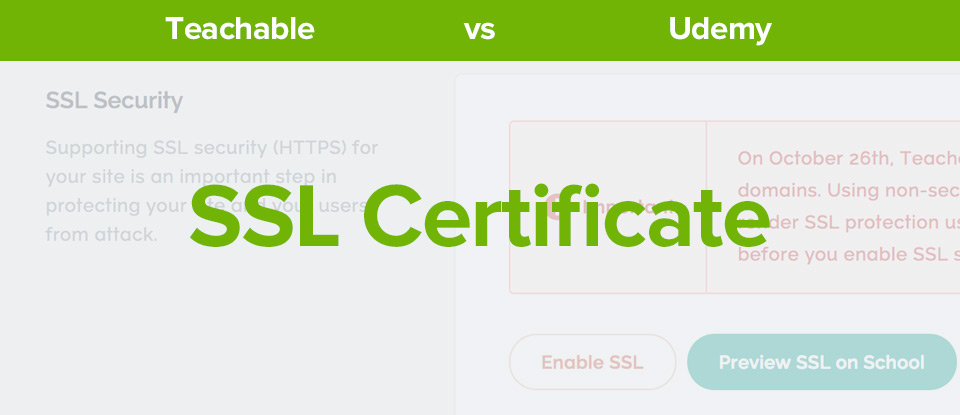 Teachable Vs Udemy SSL Certificate banner