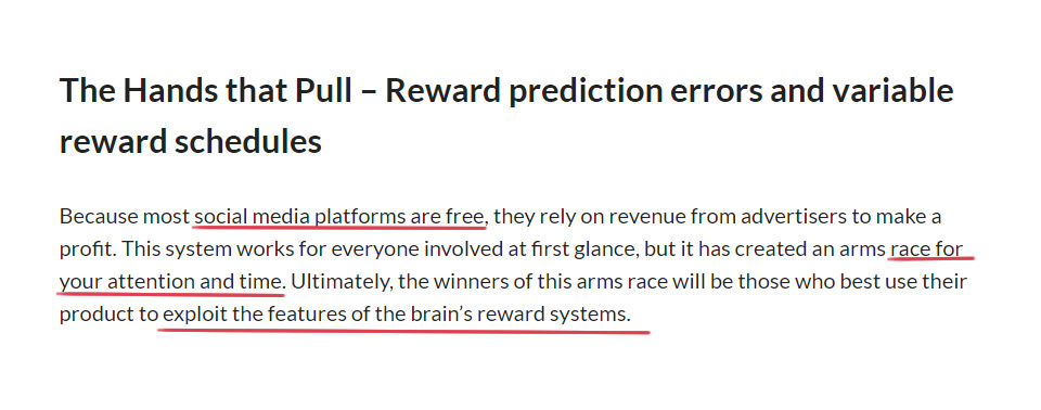 Instagram reward predicition extract from Harvard article