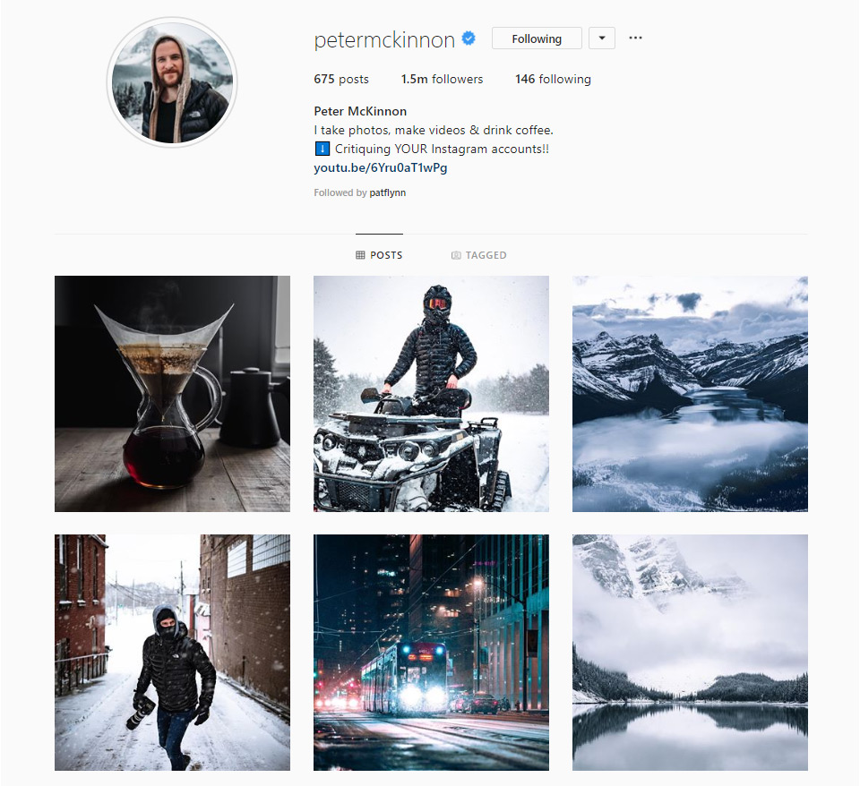 Peter Mckinnon's Instagram profile