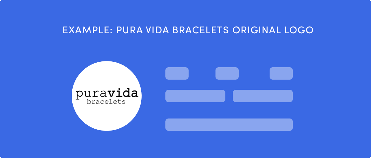 Pura Vida Bracelets normal logo would be too small for Instagram