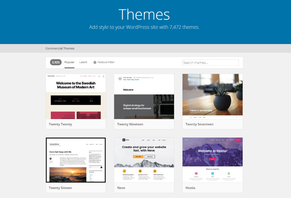 Library of WordPress Themes