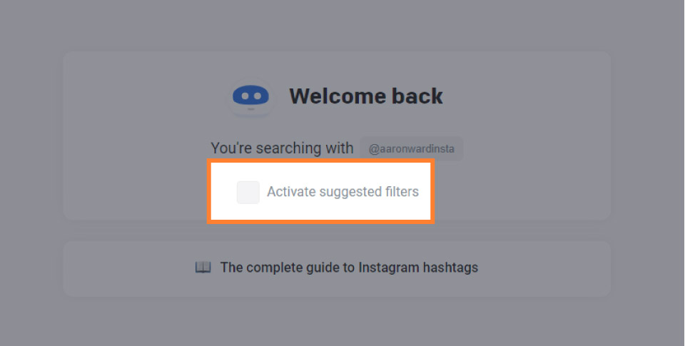 Flick Active suggested filters option