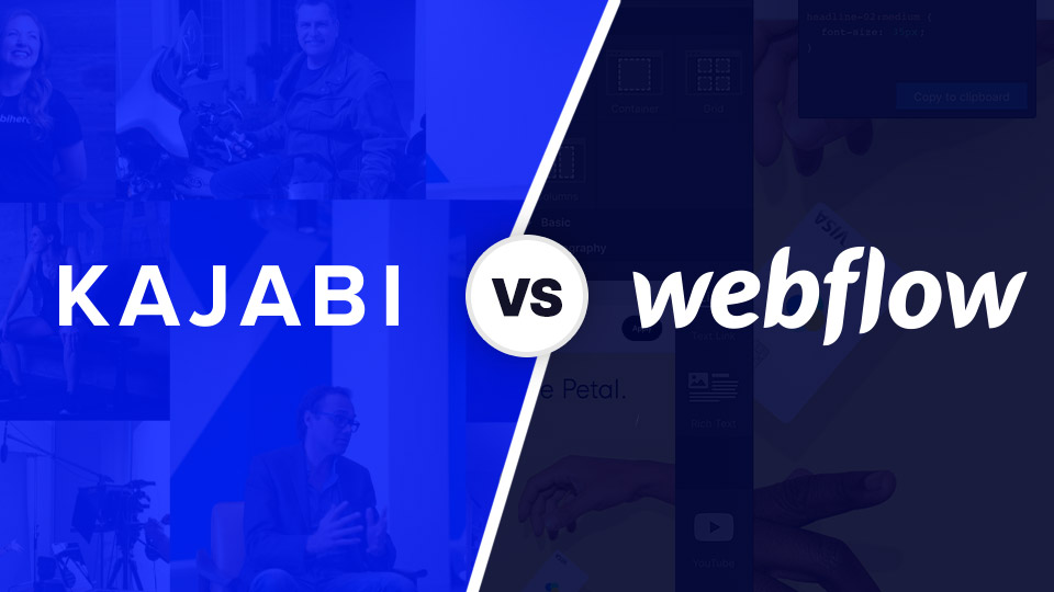 Kajabi VS Webflow (Building Websites)