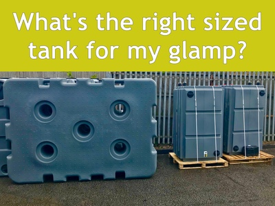 How do I select the right- sized waste tank for my glampsite?