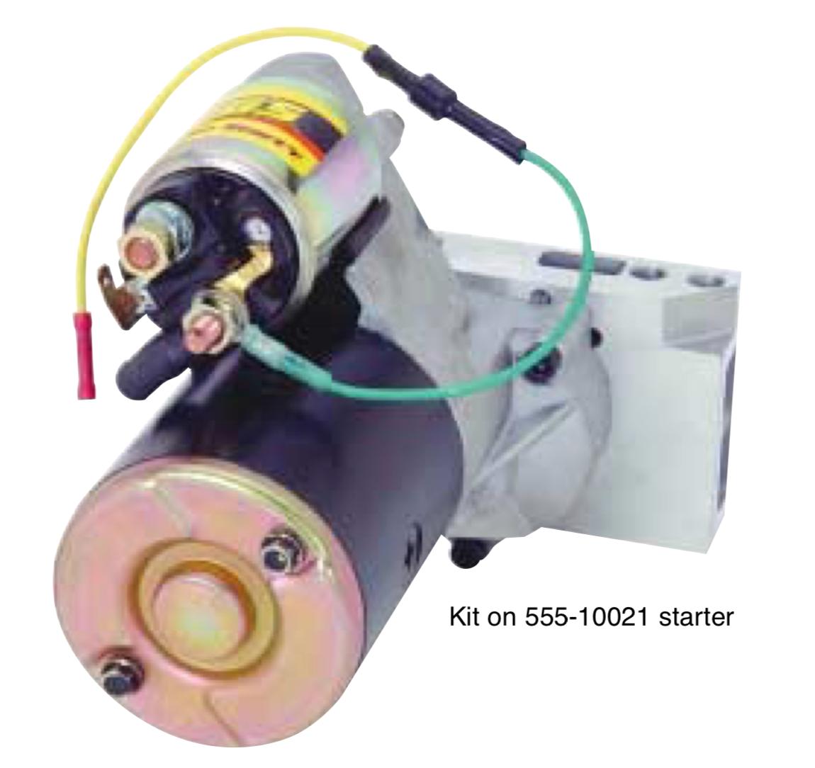 555-10038 R Terminal Diode Kid installed on 555-10021 starter