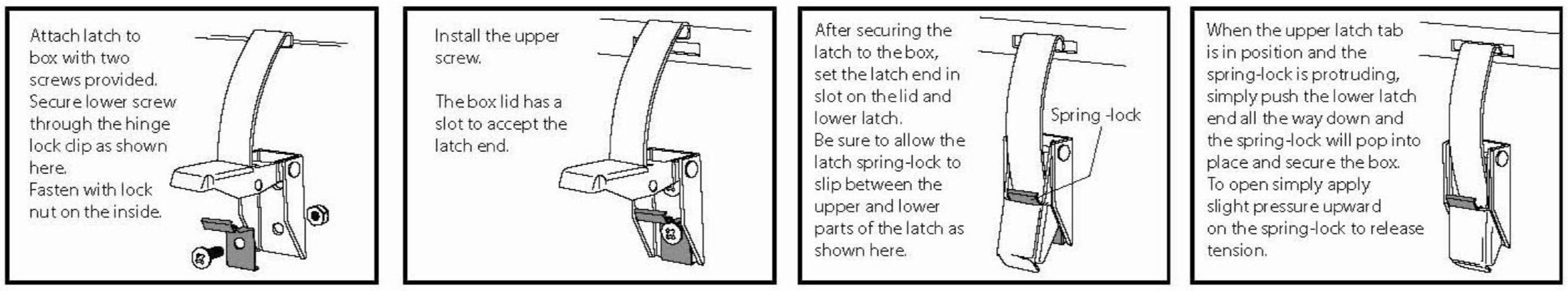 diagram showing proper latch installation