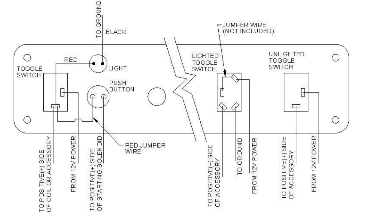 11010 11013 Installation Instructions For Ignition Start Toggle How To Wire Push Button Switch 7 A Diagram