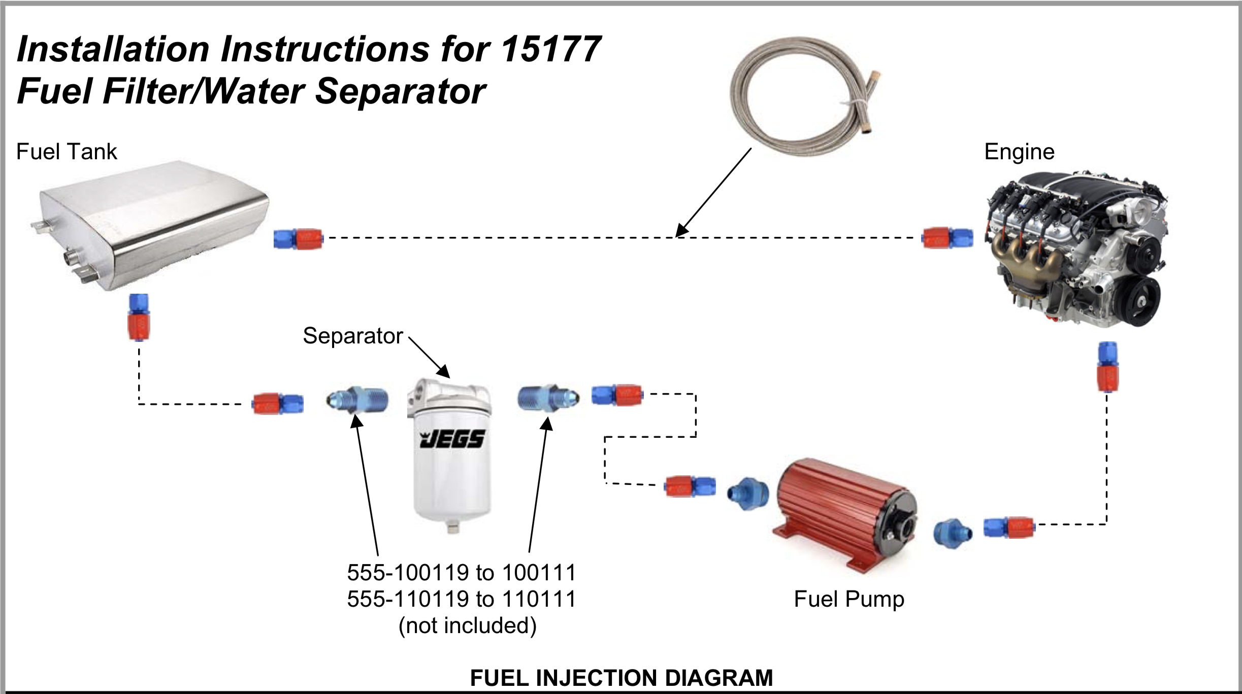 Fuel Water Separator Diagram Reinvent Your Wiring Ford 7 3 Vaccum And 15177 Installation Instructions For Filter Rh Answers Jegs Com 73 Liter Powerstroke