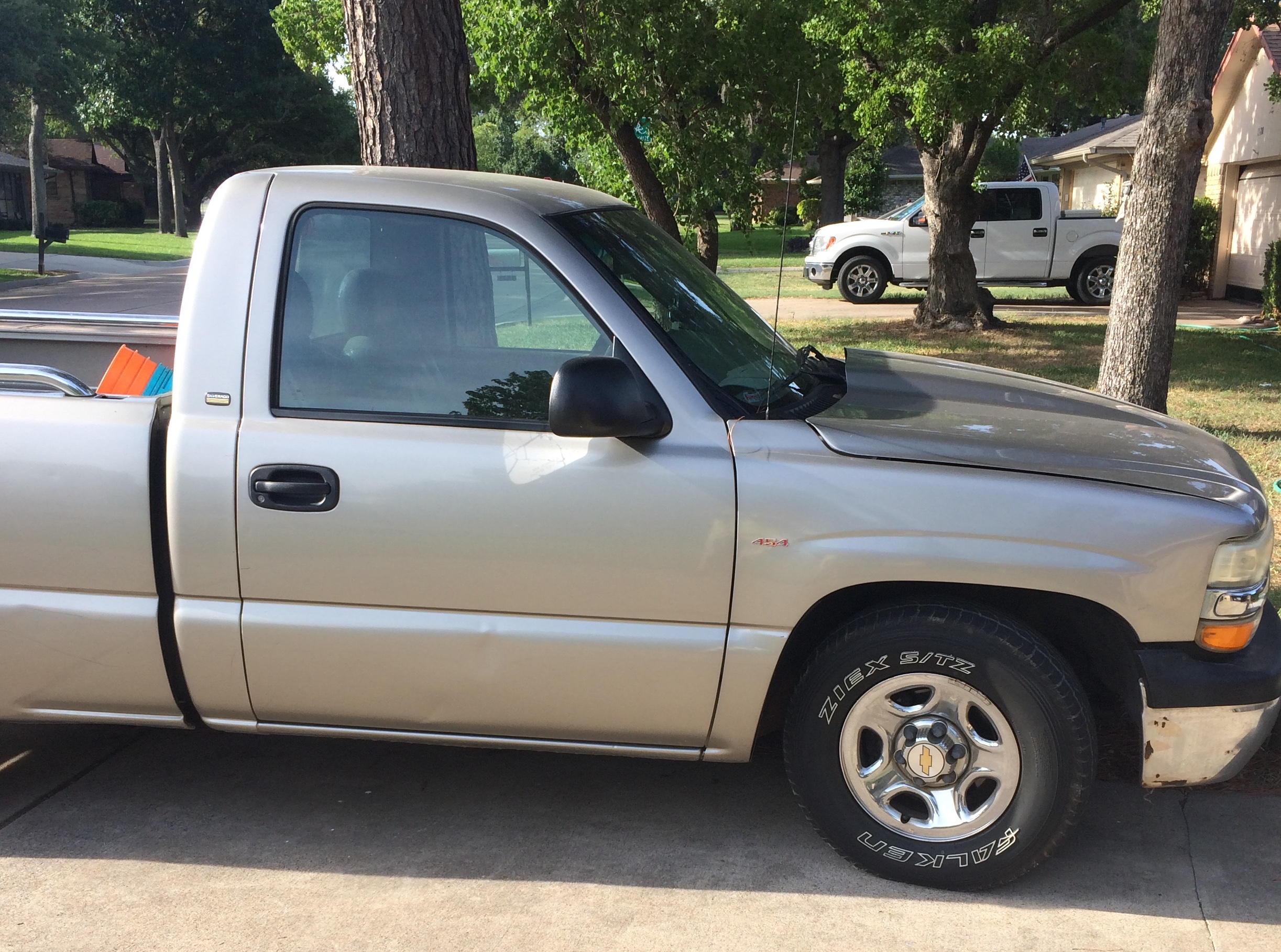 silver 2002 chevy truck