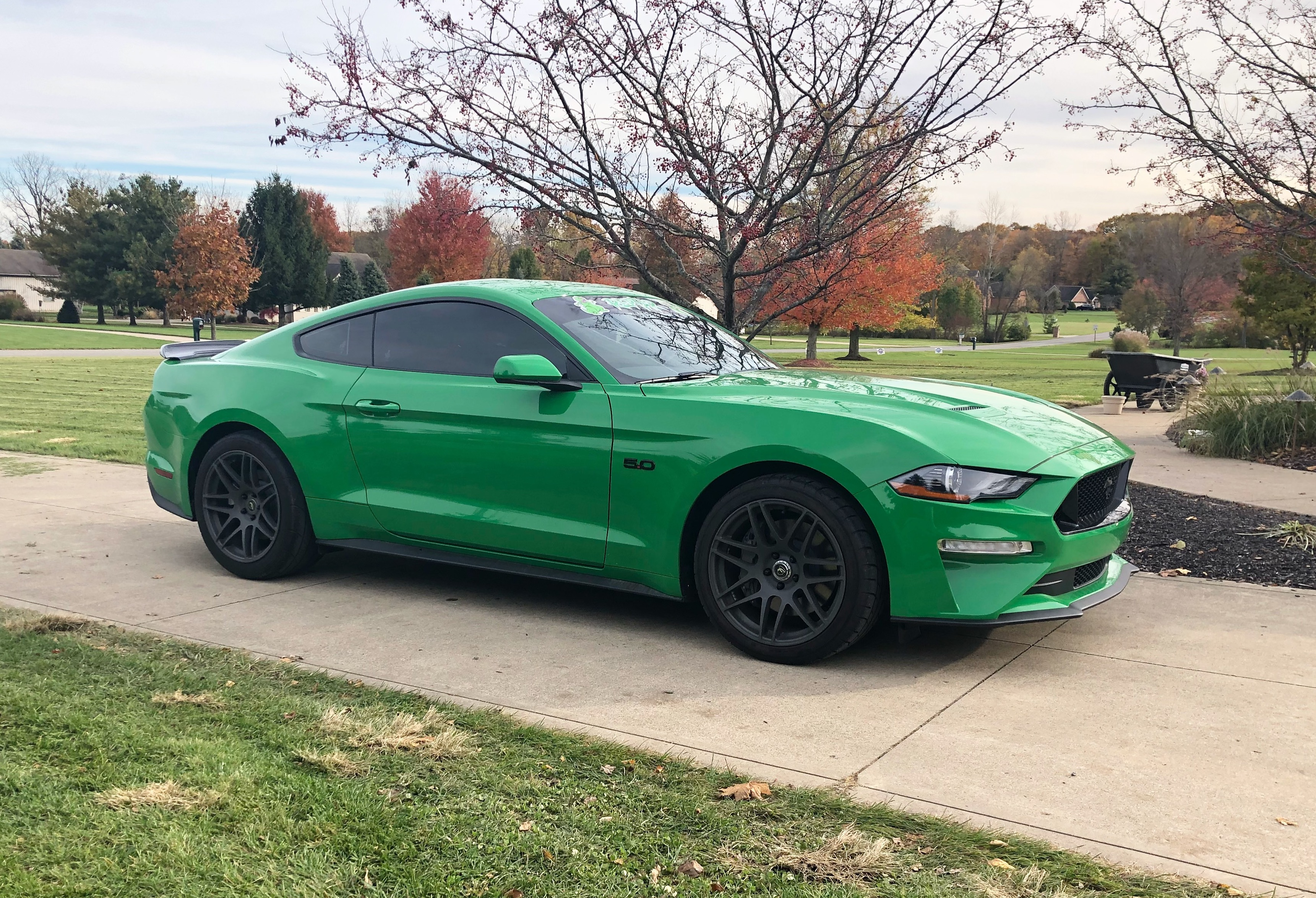 2019 Need for Green Ford Mustang GT nicknamed Reptar