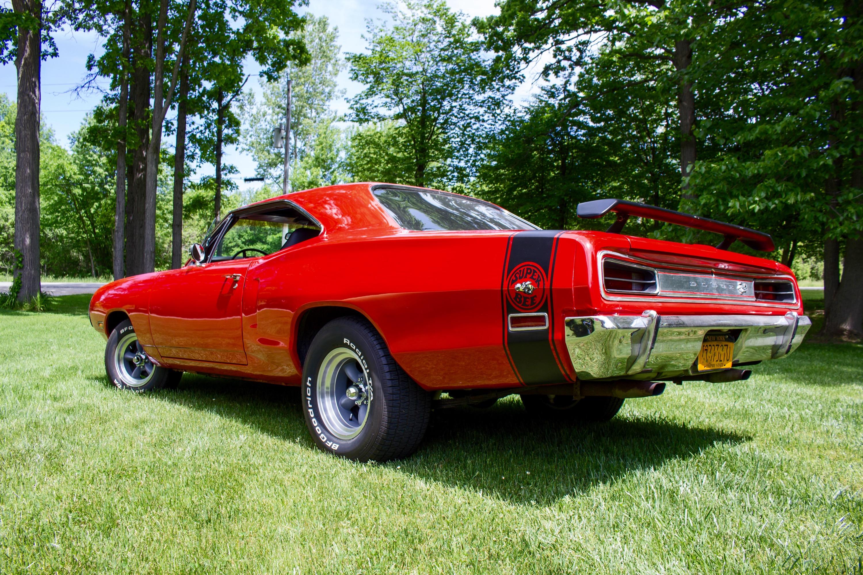 red 1970 Dodge super bee