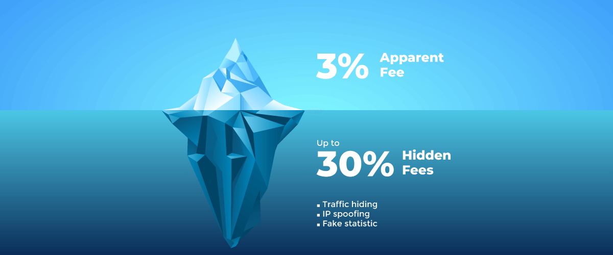 When Ad Network shaves traffic, it also doesn't show you the revenue this traffic brought, and simply keeps it. The other option is more harmless but still cheating. Ad Network may shave only traffic statistics but transfer all revenue to the publisher. This is a strategic move that allows the network to artificially raise CPM and attract naive customers who think that the success of advertising is measured not in profit, but in the cost of impressions.