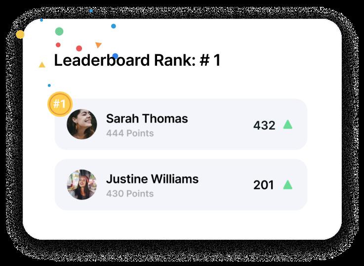 Trivie UI Leaderboard Rank