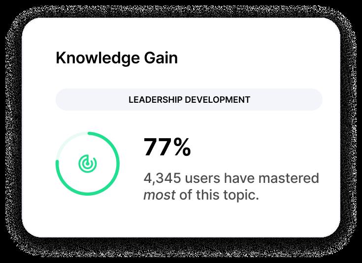 Trivie UI Knowledge Gain Score