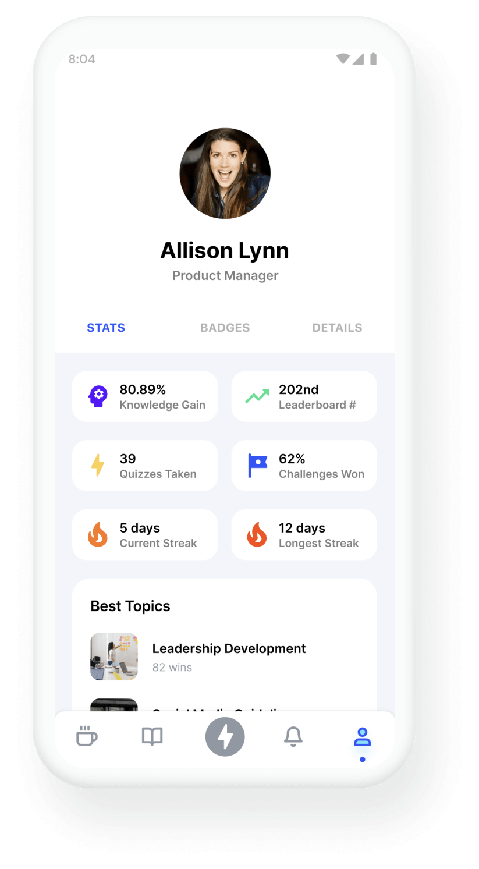 Trivie UI Profile