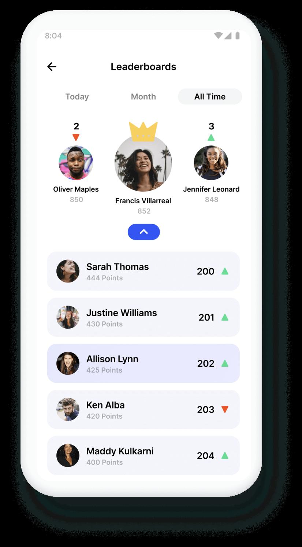 Trivie UI Leaderboard