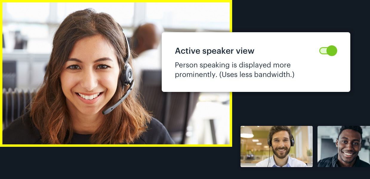Using Active Speaker Layout, for better conversations