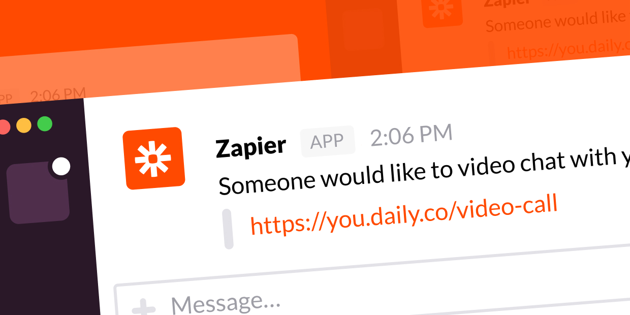 Use Zapier to get notified in Slack when someone joins your video calls