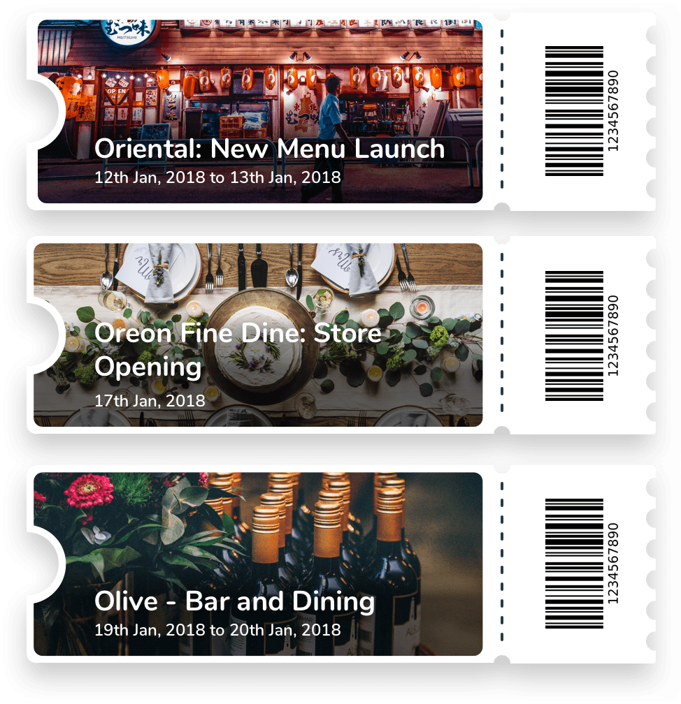 Events Loyalty Cards Billeasy