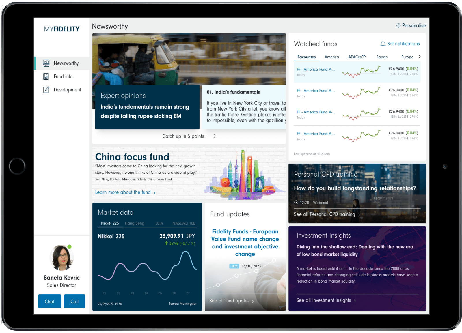 5 years into the future mock up on tablet - dashboard