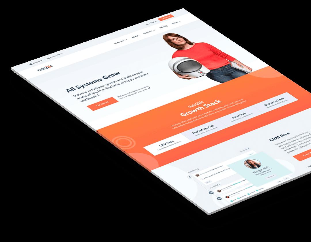 HubSpot website design preview