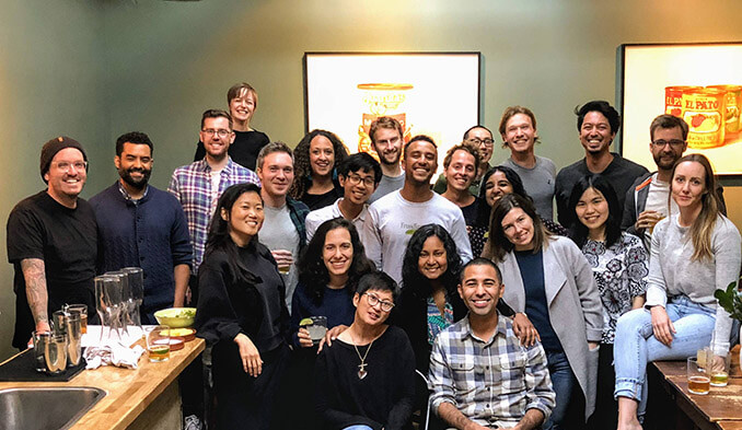 Photo of Austin with his team at Google
