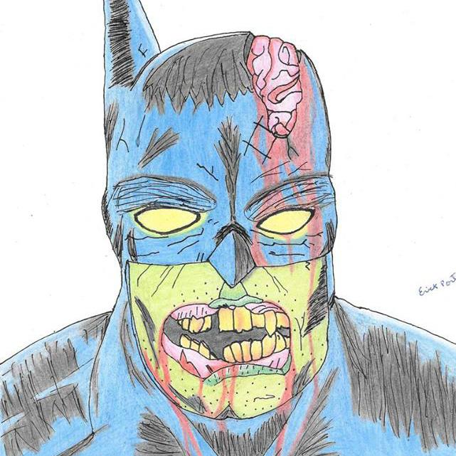 Zombie Batman Drawing