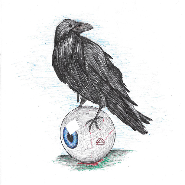 Crow and Eye Drawing