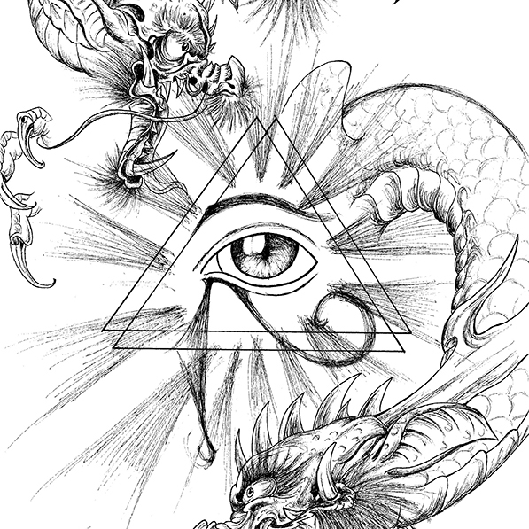 Dragons and Eye Drawing