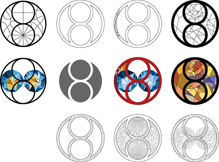 Meer schetsen van het logo