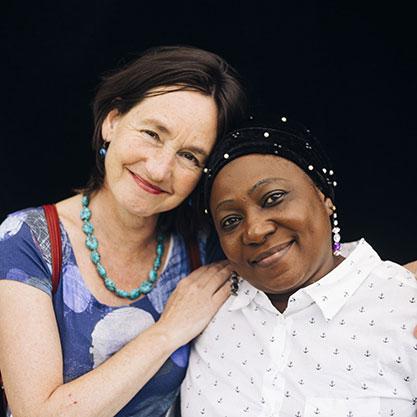 Anna en Fatoumata (Foto: Lotte Dale)