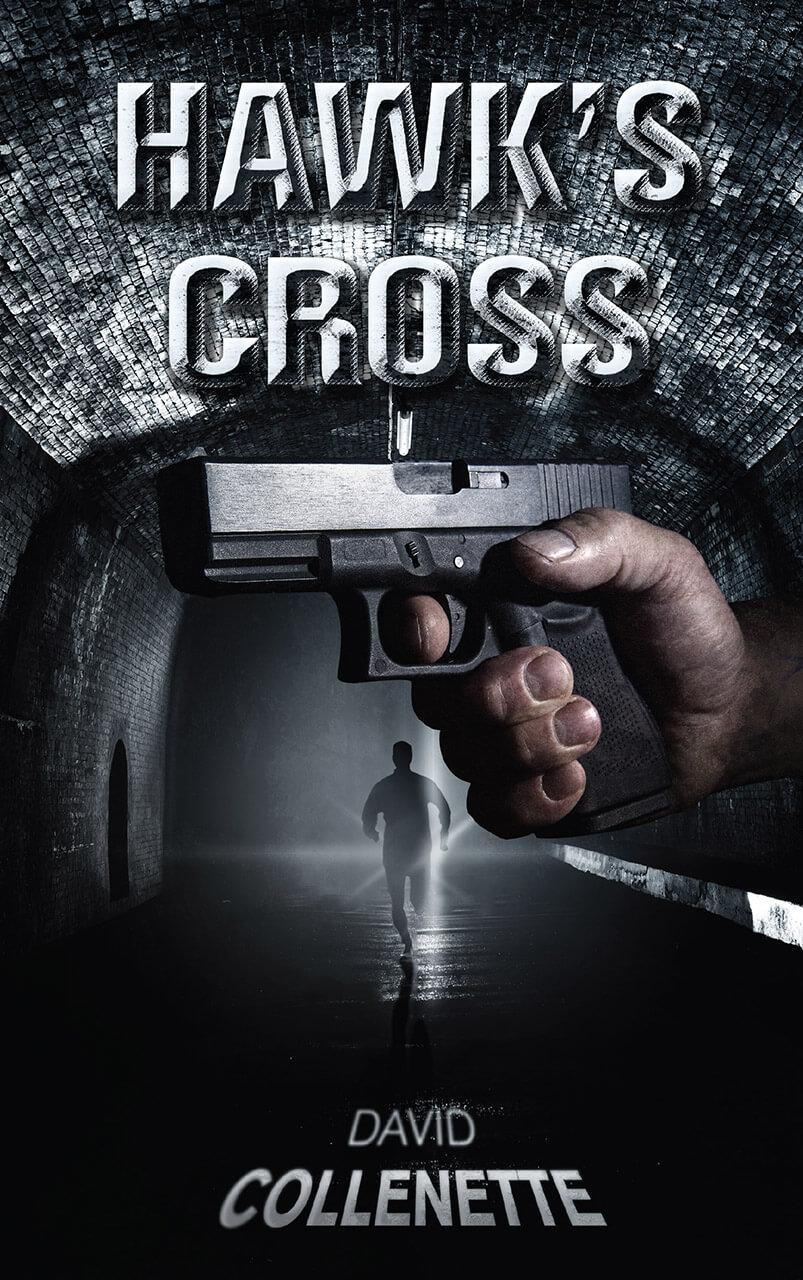 Hawk's Cross Book Cover Design
