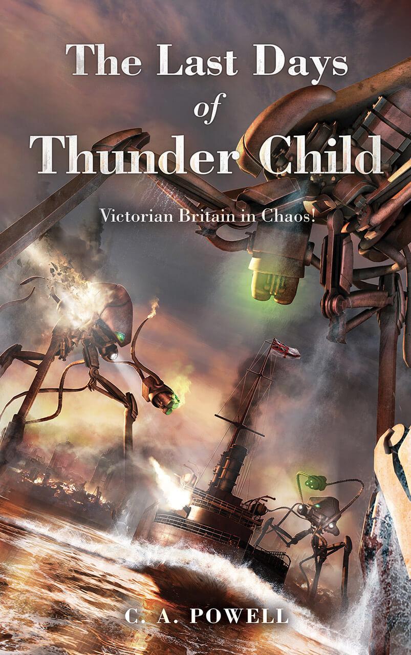 The Last Days of Thunder Child  Book Cover Design Illustration