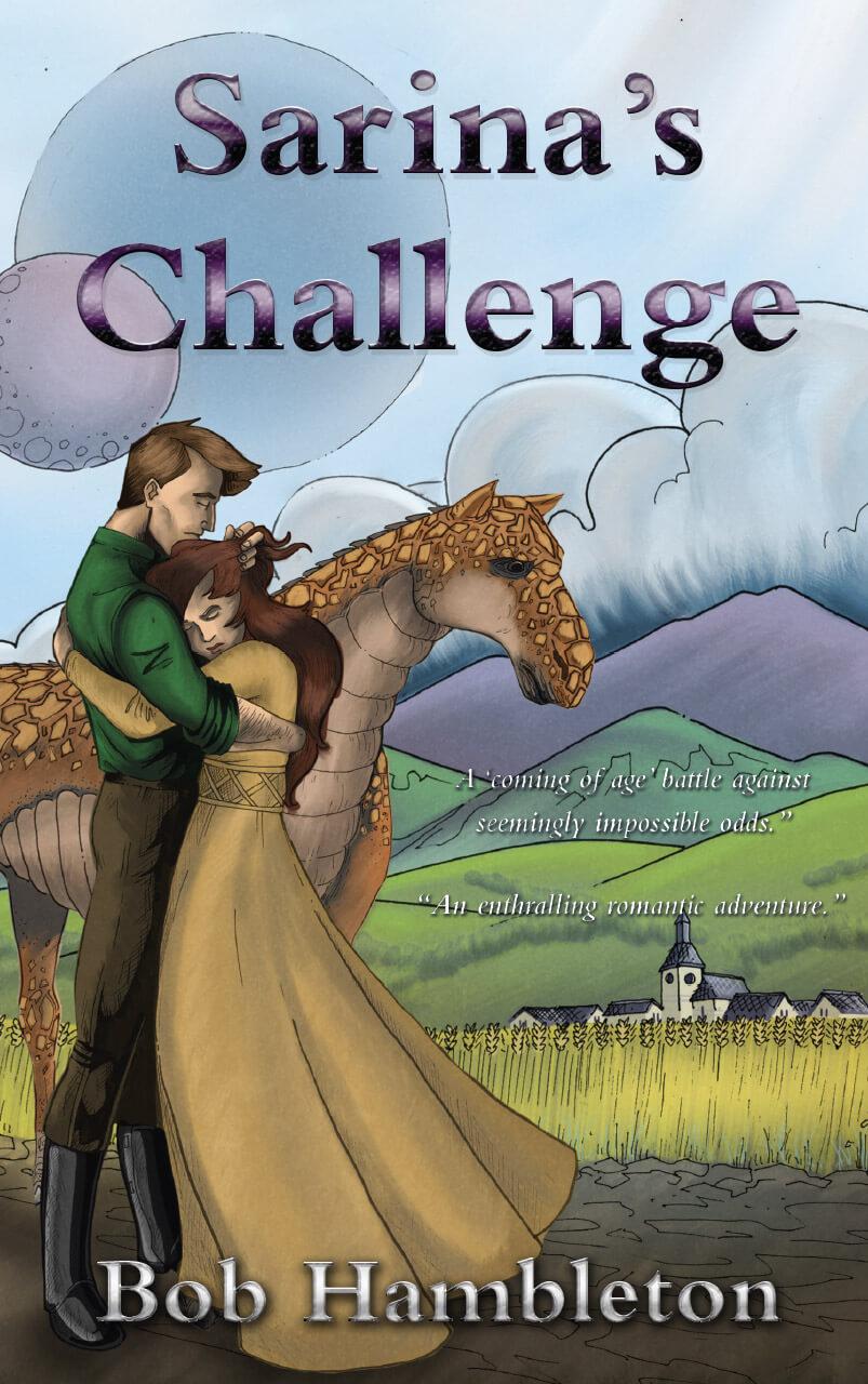 Sarina's Challenge  Book Cover Design Illustration