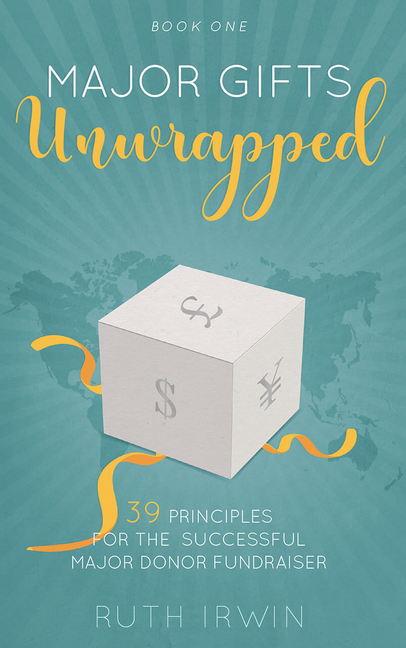 Major Gifts Unwrapped Book Cover Design